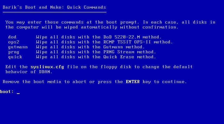 darik s boot and nuke dban